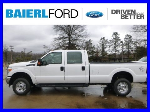 Oxford White 2015 Ford F250 Super Duty XL Crew Cab 4x4