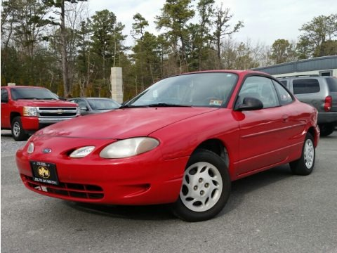 Bright Red 1999 Ford Escort ZX2 Coupe