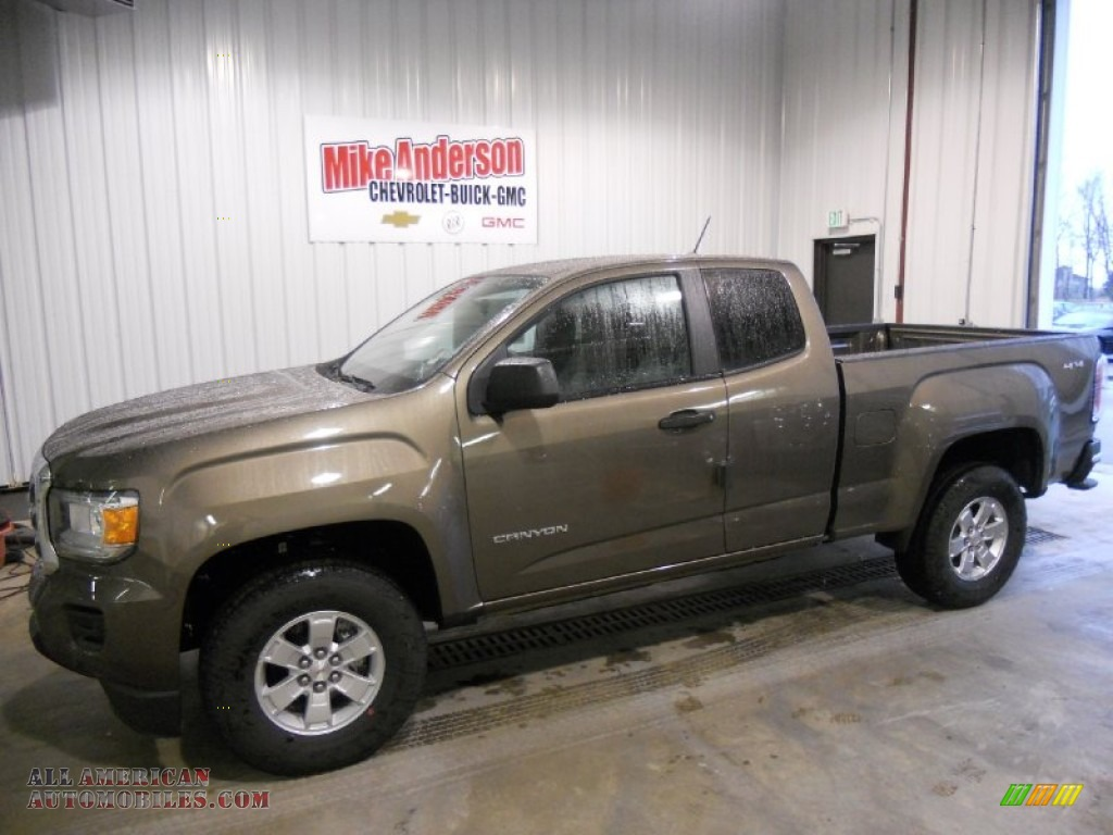 2015 GMC Canyon Extended Cab 4x4 in Bronze Alloy Metallic ...