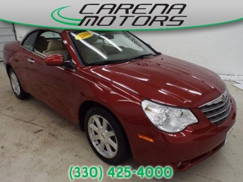 Inferno Red Crystal Pearl 2008 Chrysler Sebring Limited Convertible
