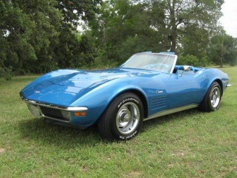 Mulsanne Blue 1970 Chevrolet Corvette Stingray Convertible