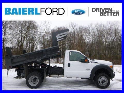 Oxford White 2015 Ford F550 Super Duty XL Regular Cab 4x4 Dump Truck