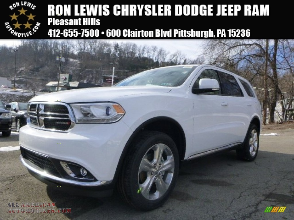 2015 dodge durango limited awd in bright white 723197 all american automobiles buy. Black Bedroom Furniture Sets. Home Design Ideas