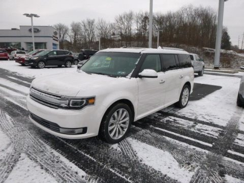 White Platinum 2014 Ford Flex Limited AWD