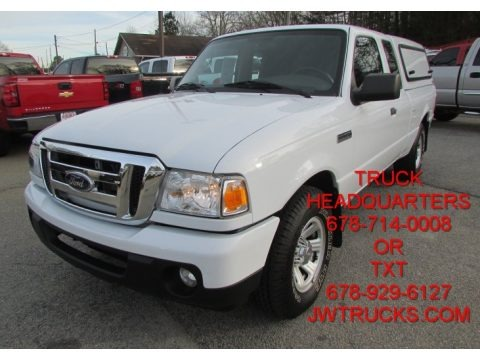 Oxford White 2010 Ford Ranger XLT SuperCab
