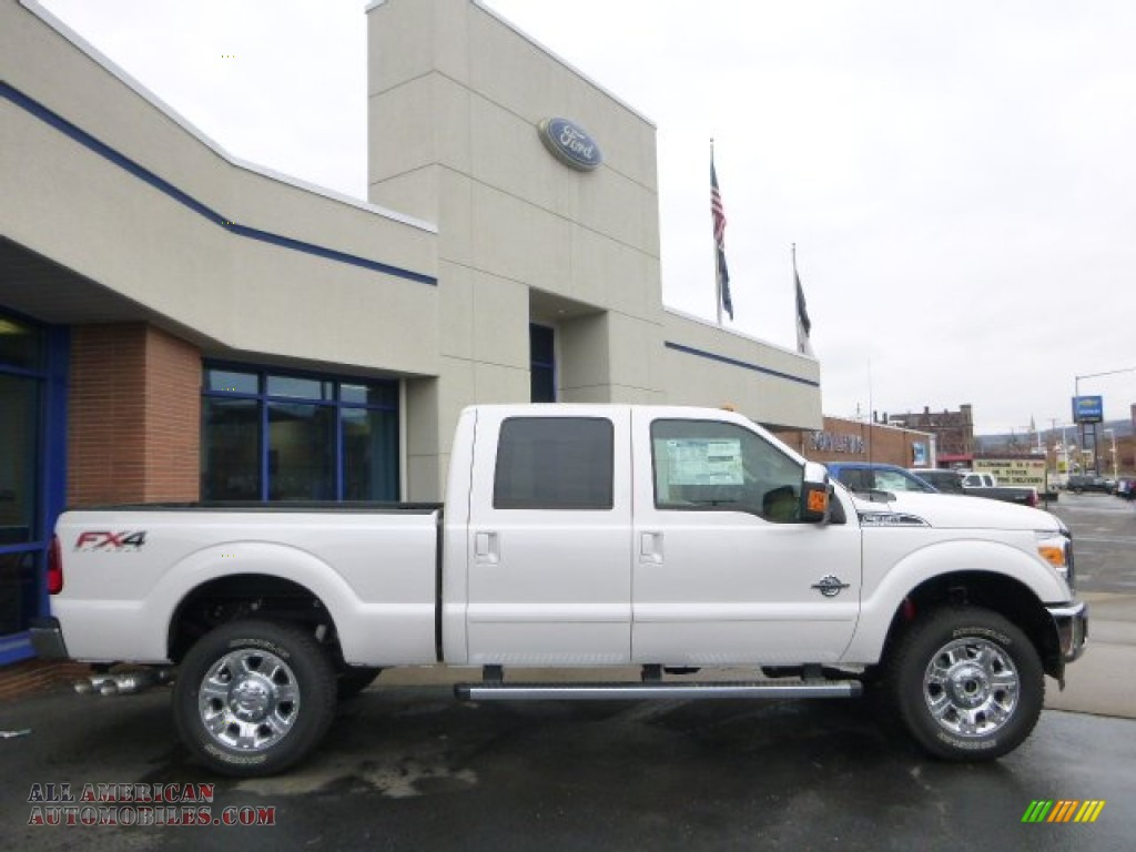 2015 ford f350 super duty lariat crew cab 4x4 in white platinum a08677 all american. Black Bedroom Furniture Sets. Home Design Ideas