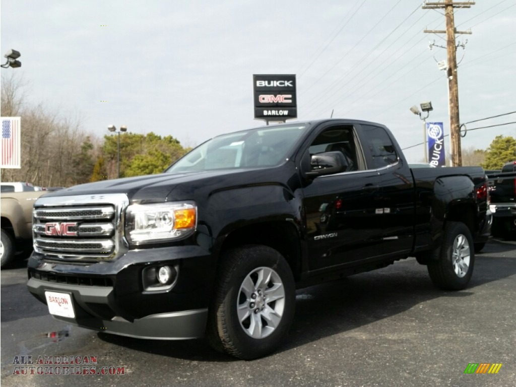 2015 gmc canyon sle extended cab in onyx black 153575 all american automobiles buy. Black Bedroom Furniture Sets. Home Design Ideas