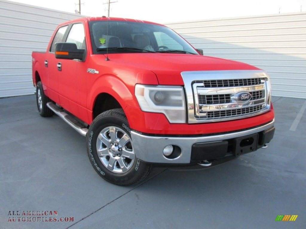 2014 Ford F150 Xlt Supercrew 4x4 In Race Red G47847