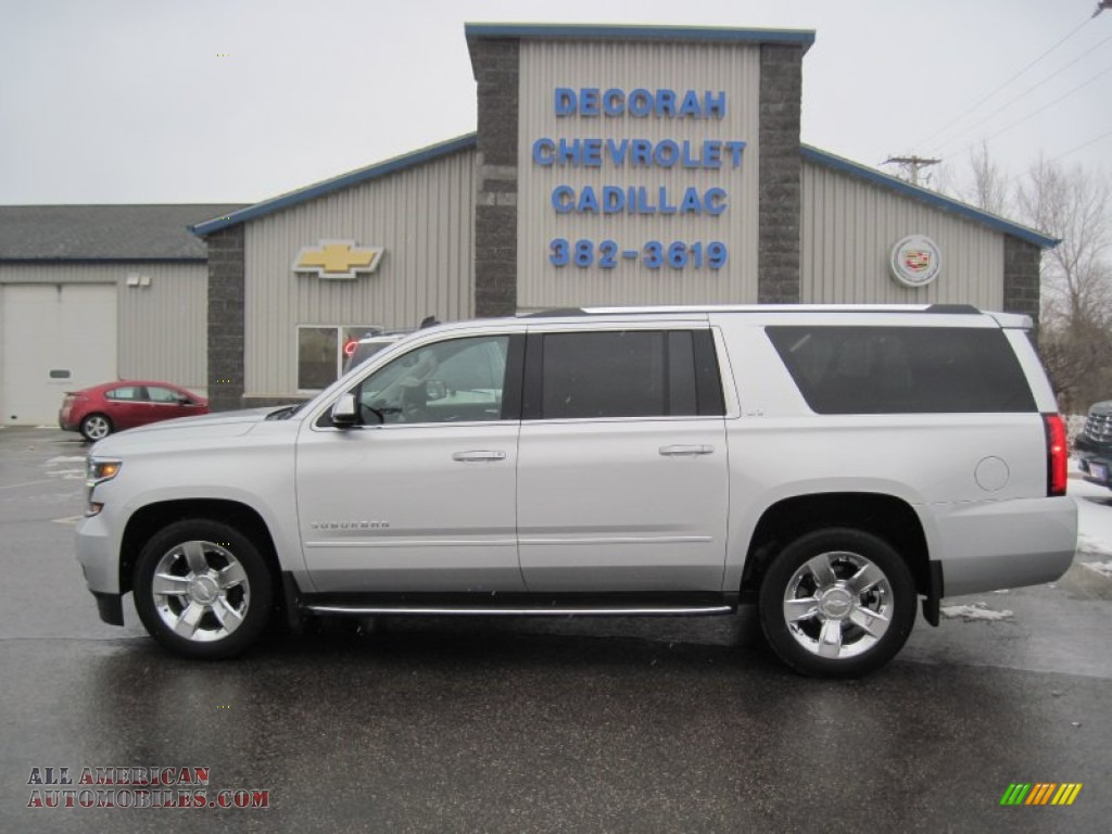 2015 chevrolet suburban ltz 4wd in silver ice metallic 112839 all american automobiles buy. Black Bedroom Furniture Sets. Home Design Ideas