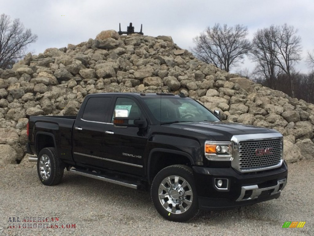 2015 gmc sierra 2500hd denali crew cab 4x4 in onyx black 560547 all american automobiles. Black Bedroom Furniture Sets. Home Design Ideas