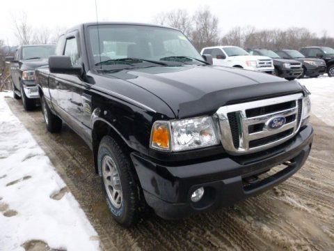 Black 2011 Ford Ranger XLT SuperCab 4x4