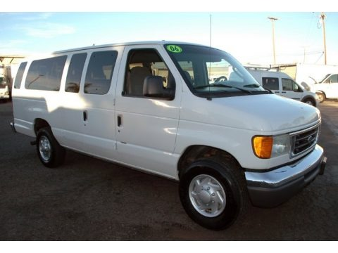 Oxford White 2006 Ford E Series Van E350 XLT 15 Passenger