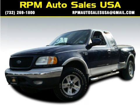 True Blue Metallic 2003 Ford F150 Lariat SuperCab 4x4