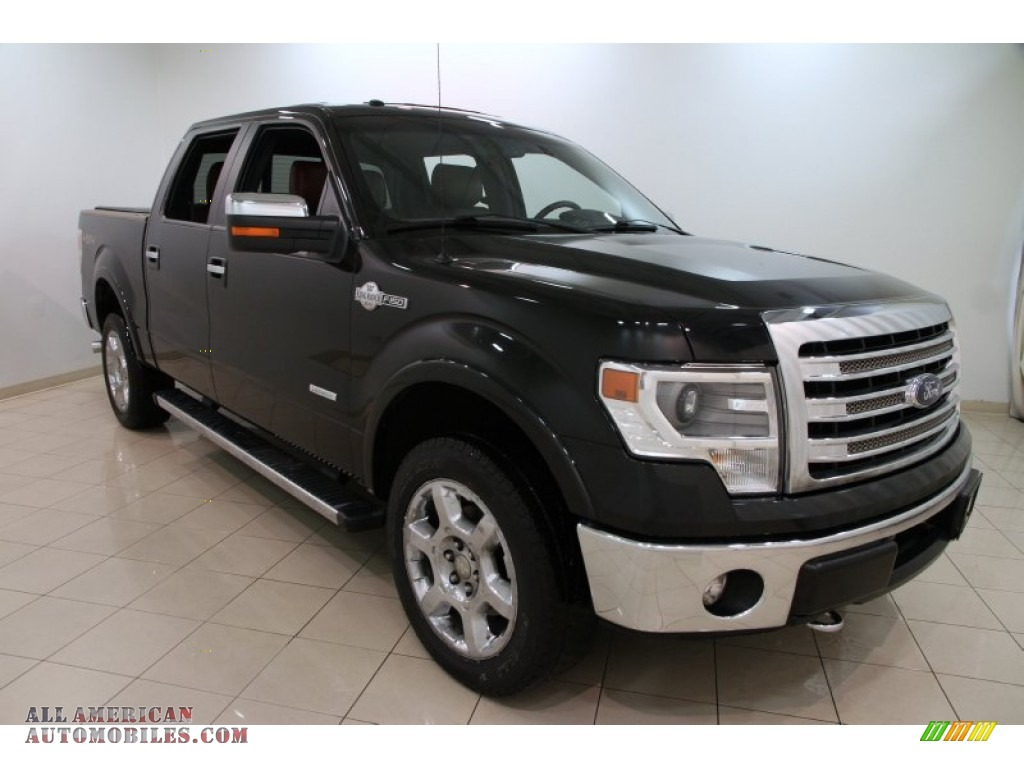 2013 ford f150 king ranch supercrew 4x4 in tuxedo black metallic d06985 all american. Black Bedroom Furniture Sets. Home Design Ideas