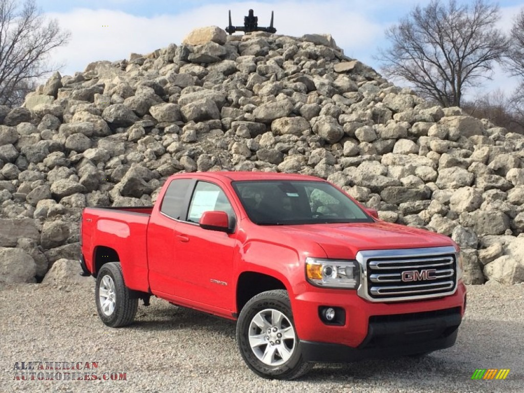 2015 gmc canyon sle extended cab 4x4 in cardinal red 174458 all american automobiles buy. Black Bedroom Furniture Sets. Home Design Ideas