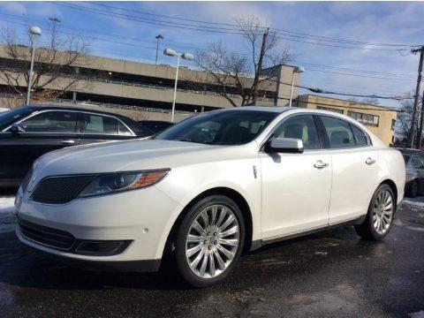 White Platinum 2013 Lincoln MKS AWD