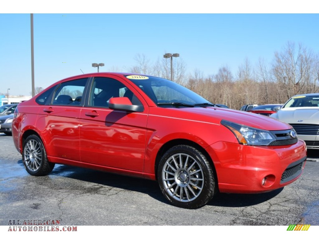 2010 ford focus ses sedan in sangria red metallic 286145 all american automobiles buy. Black Bedroom Furniture Sets. Home Design Ideas