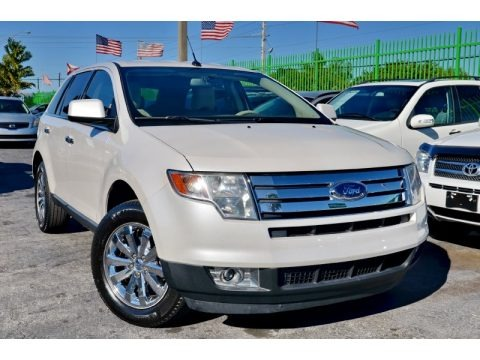 White Platinum Tri-Coat 2010 Ford Edge Limited