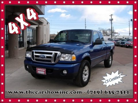 Vista Blue Metallic 2009 Ford Ranger XLT SuperCab 4x4