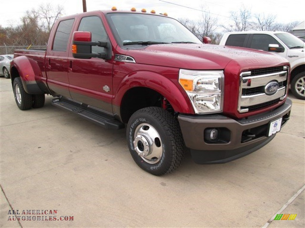 2015 ford f350 super duty lariat crew cab 4x4 drw in ruby red c61817 all american. Black Bedroom Furniture Sets. Home Design Ideas