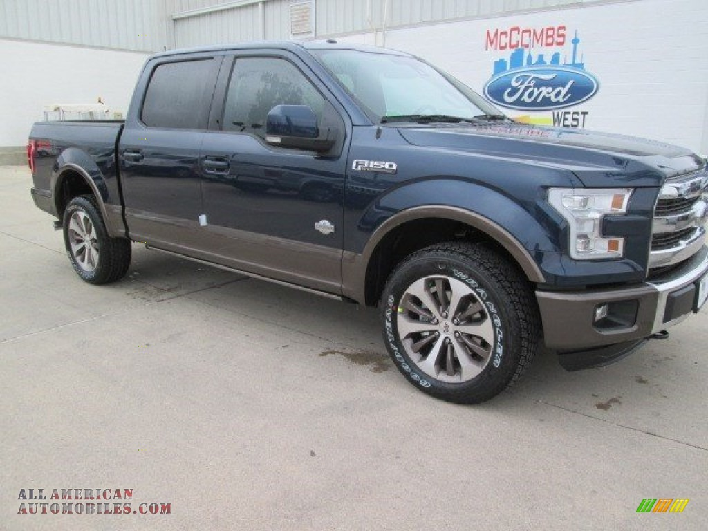 2015 ford f150 king ranch supercrew 4x4 in blue jeans metallic a38958 all american. Black Bedroom Furniture Sets. Home Design Ideas