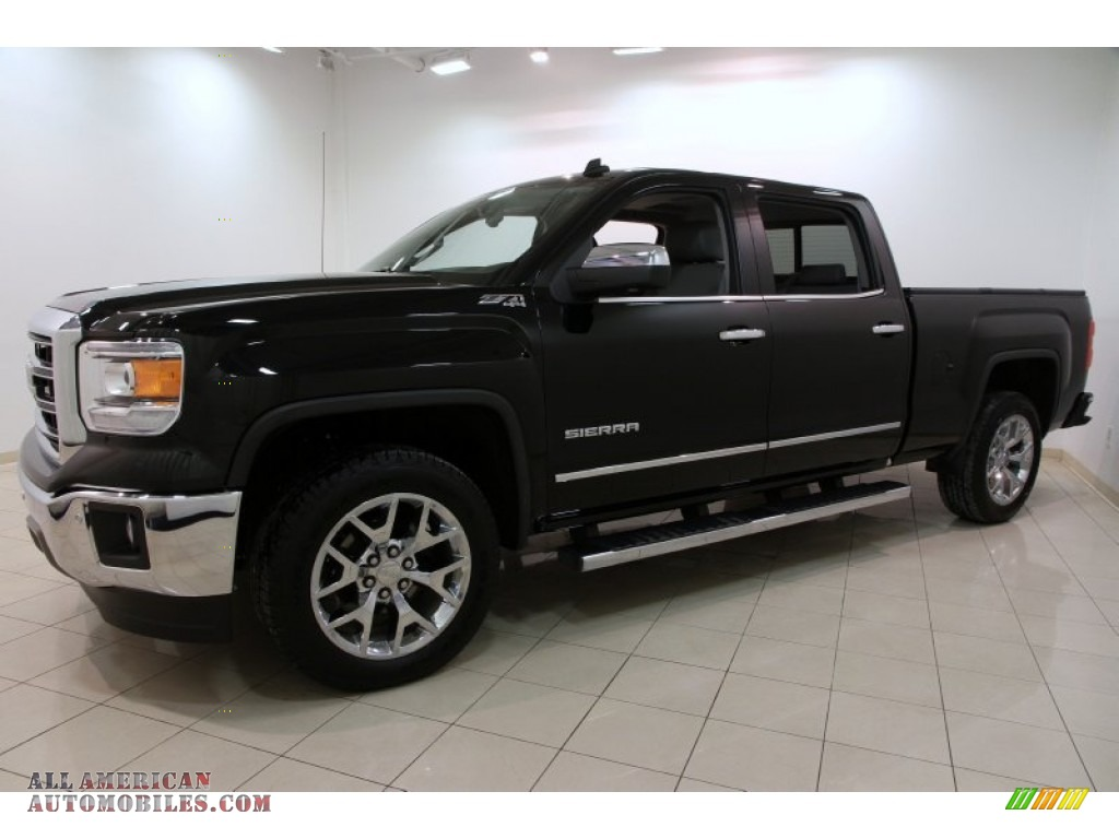 2014 gmc sierra 1500 slt crew cab 4x4 in onyx black photo 3 121391 all american automobiles. Black Bedroom Furniture Sets. Home Design Ideas