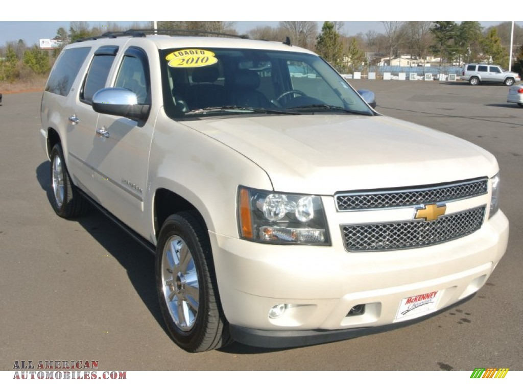 2010 chevrolet suburban ltz 4x4 in white diamond tricoat 213190 all american automobiles. Black Bedroom Furniture Sets. Home Design Ideas