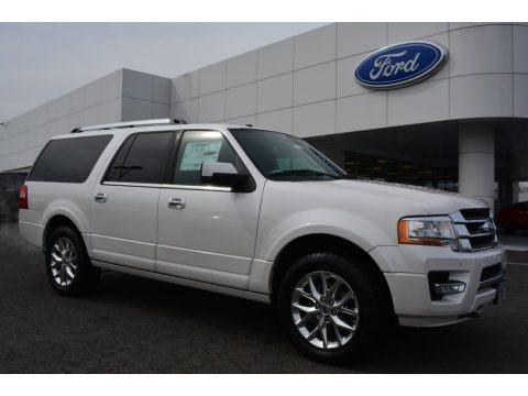 White Platinum Metallic Tri-Coat 2015 Ford Expedition EL Limited 4x4