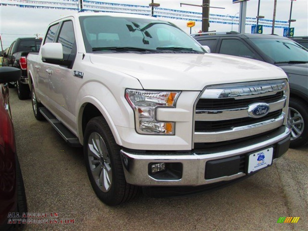 2015 ford f150 lariat supercrew in white platinum tricoat a53746 all american automobiles. Black Bedroom Furniture Sets. Home Design Ideas