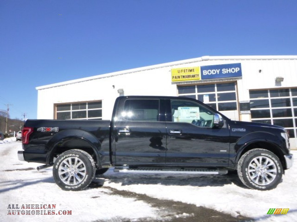 2015 ford f150 lariat supercrew 4x4 in tuxedo black metallic a51706 all american automobiles. Black Bedroom Furniture Sets. Home Design Ideas