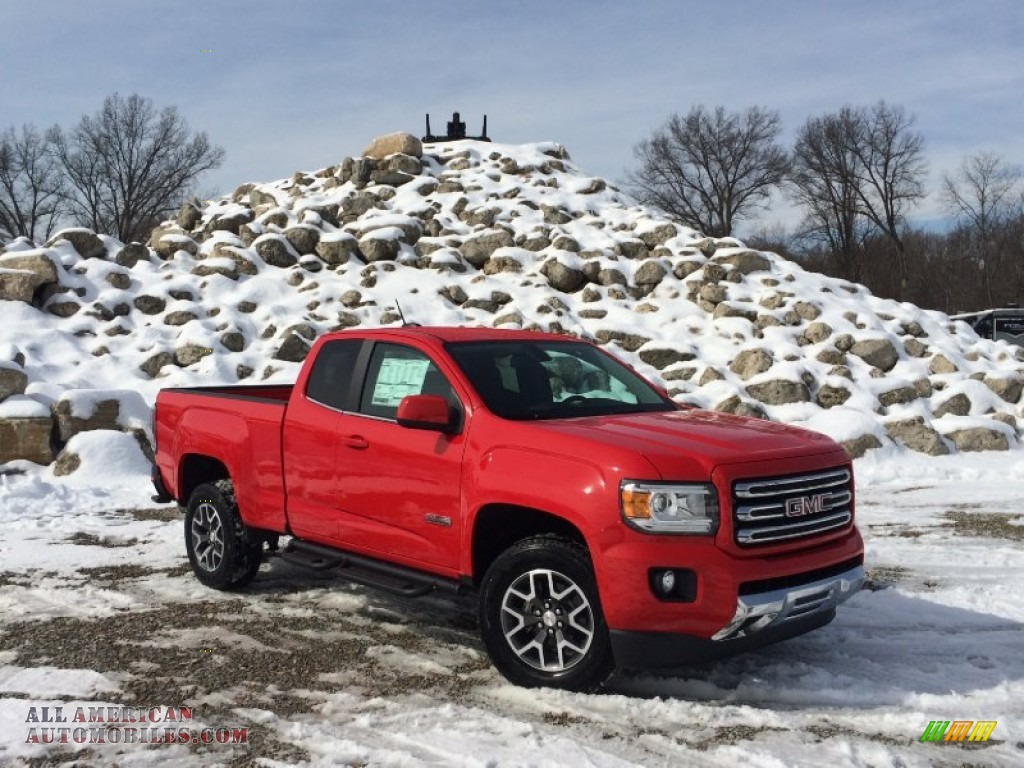 2015 gmc canyon sle extended cab 4x4 in cardinal red photo 5 183709 all american. Black Bedroom Furniture Sets. Home Design Ideas