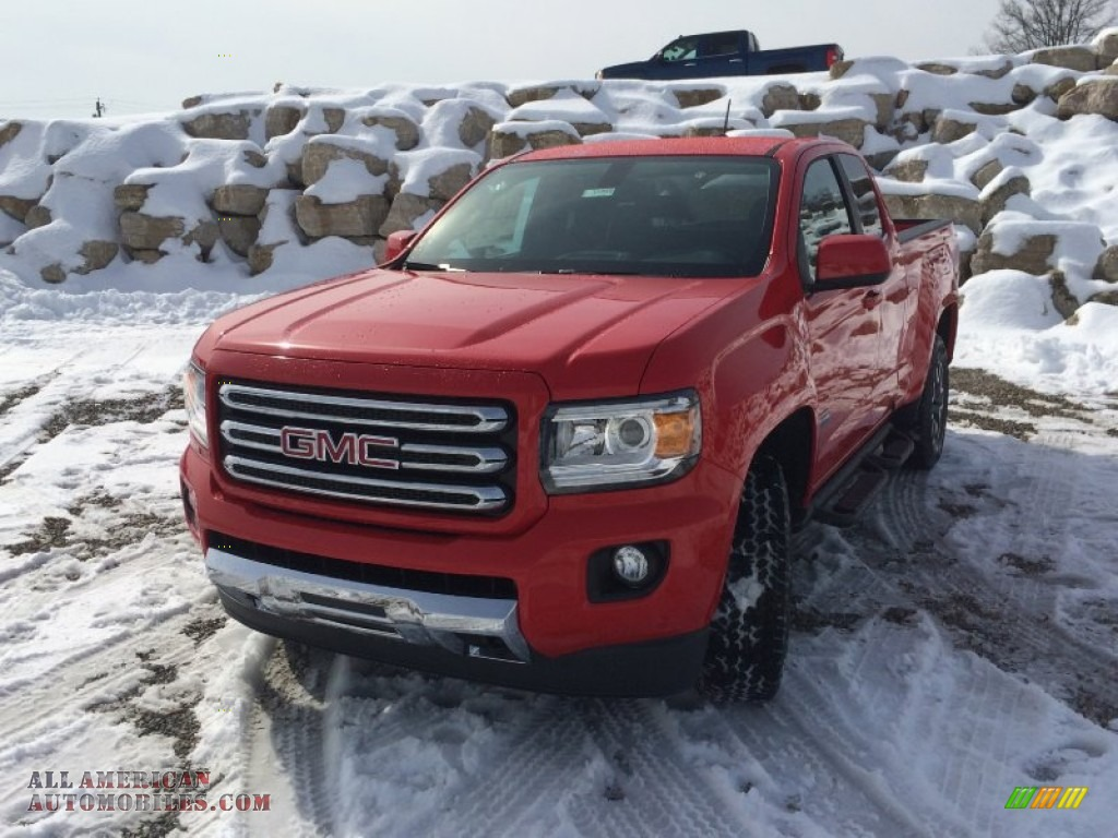 2015 gmc canyon sle extended cab 4x4 in cardinal red photo 2 183709 all american. Black Bedroom Furniture Sets. Home Design Ideas
