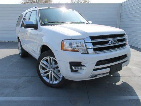 White Platinum Metallic Tri-Coat 2015 Ford Expedition Platinum