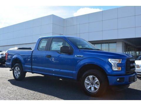Blue Flame Metallic 2015 Ford F150 XL SuperCab