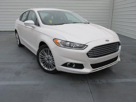 White Platinum Metallic 2015 Ford Fusion SE