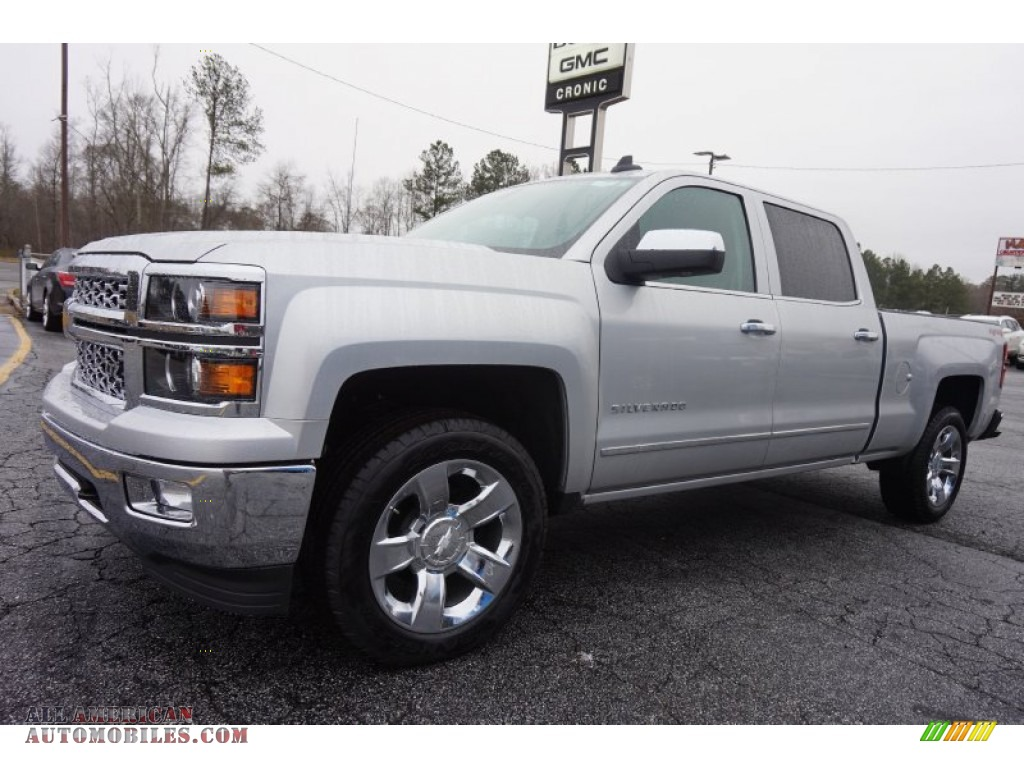 2015 chevrolet silverado 1500 ltz crew cab 4x4 in silver ice metallic photo 3 199924 all. Black Bedroom Furniture Sets. Home Design Ideas