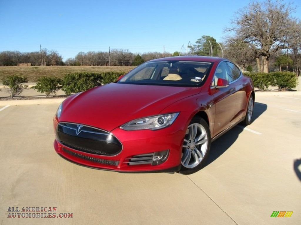 2014 tesla model s in red multi coat p41837 all american automobiles buy american cars for. Black Bedroom Furniture Sets. Home Design Ideas