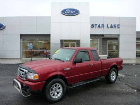 Redfire Metallic 2010 Ford Ranger XLT SuperCab 4x4