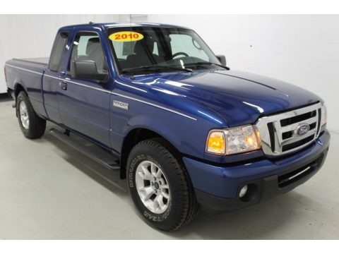 Vista Blue Metallic 2010 Ford Ranger XLT SuperCab 4x4