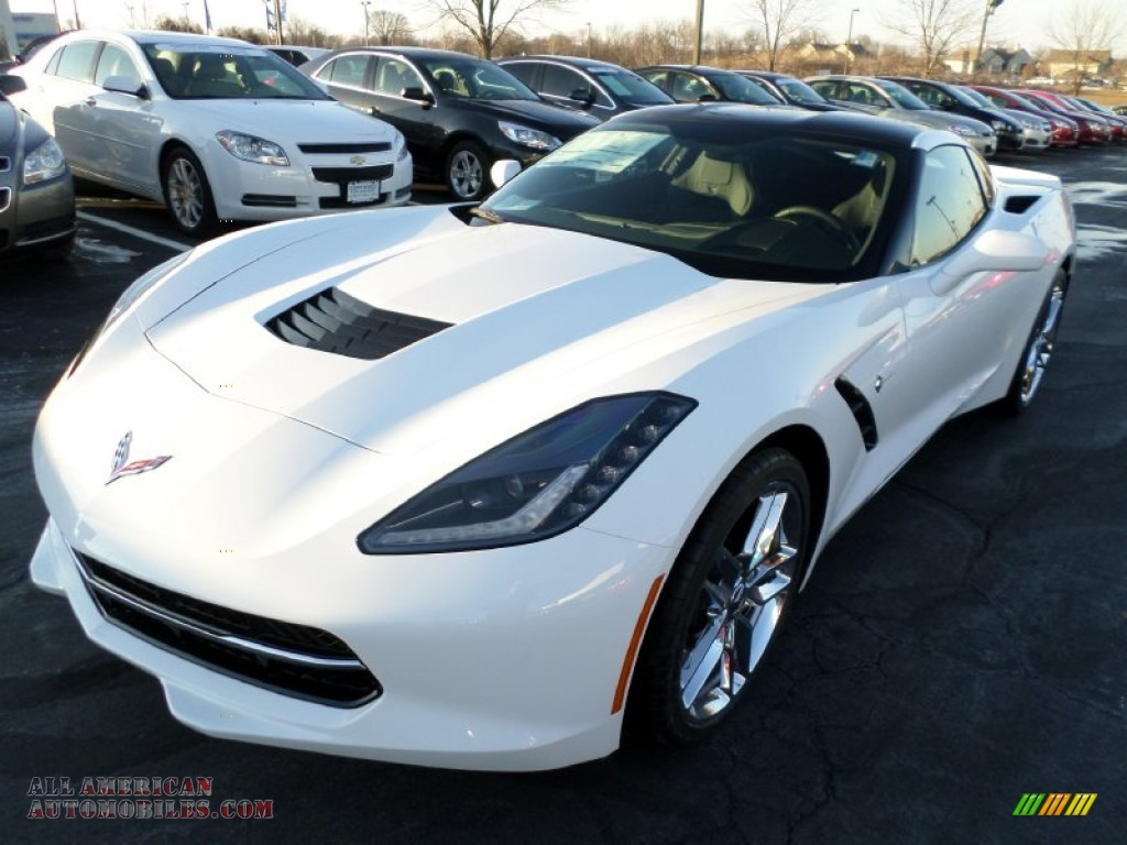 2015 chevrolet corvette stingray coupe z51 in arctic white 117228 all american automobiles. Black Bedroom Furniture Sets. Home Design Ideas