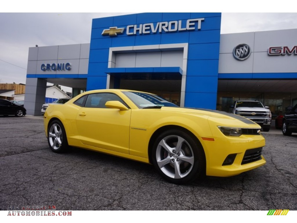 2015 chevrolet camaro ss rs coupe in bright yellow 213832 all american automobiles buy. Black Bedroom Furniture Sets. Home Design Ideas