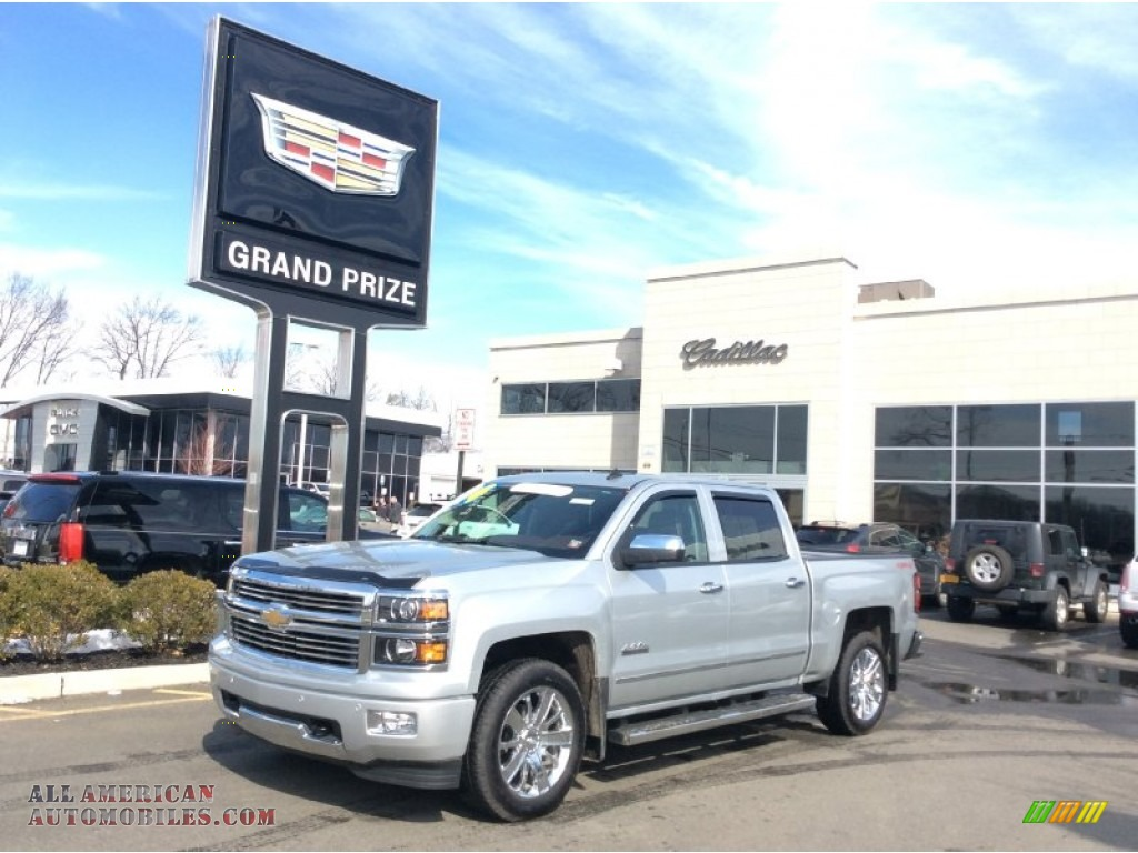 2014 chevrolet silverado 1500 high country crew cab 4x4 in silver ice metallic 465737 all. Black Bedroom Furniture Sets. Home Design Ideas