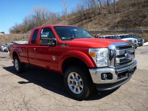 Vermillion Red 2015 Ford F250 Super Duty Lariat Super Cab 4x4