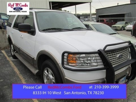 Oxford White 2003 Ford Expedition Eddie Bauer 4x4