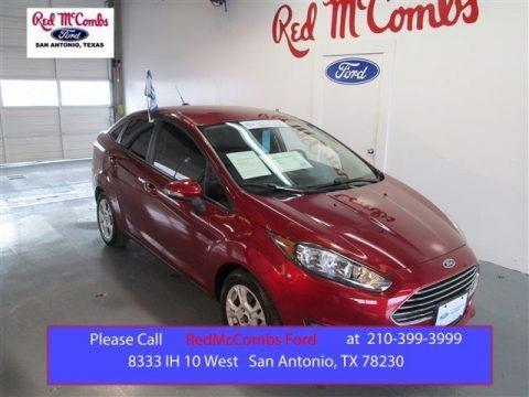 Ruby Red 2014 Ford Fiesta SE Sedan