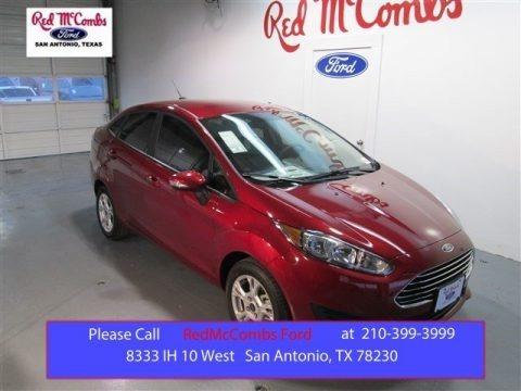 Ruby Red Metallic 2015 Ford Fiesta SE Sedan
