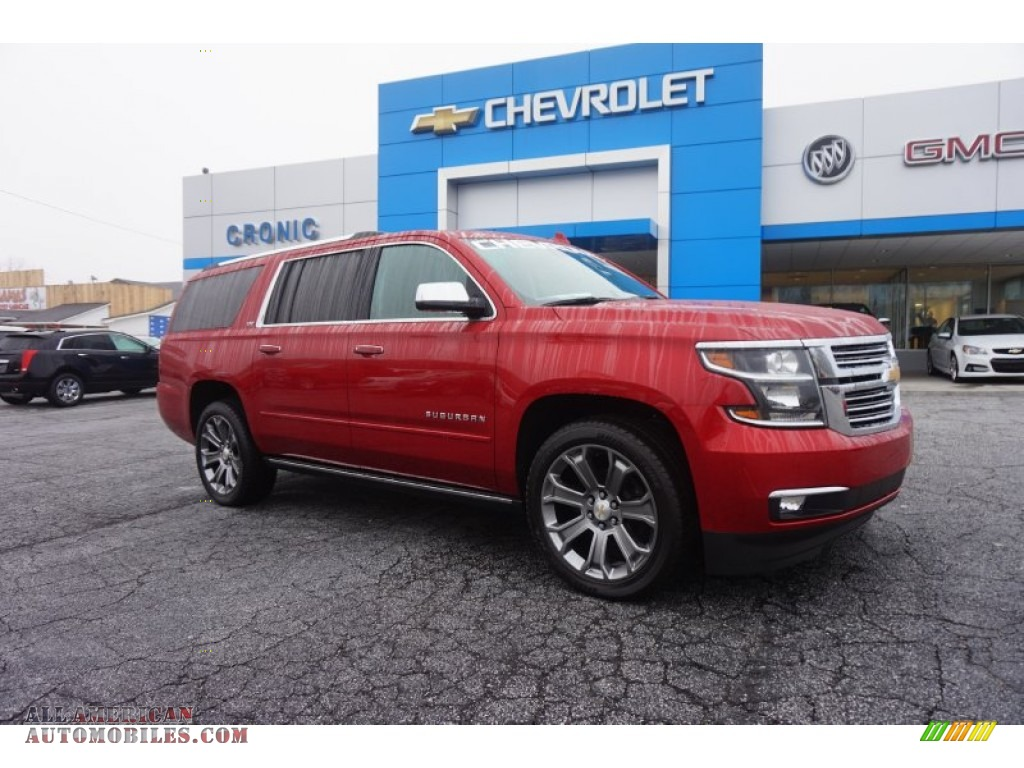 2015 chevrolet suburban ltz 4wd in crystal red tintcoat 583106 all american automobiles. Black Bedroom Furniture Sets. Home Design Ideas