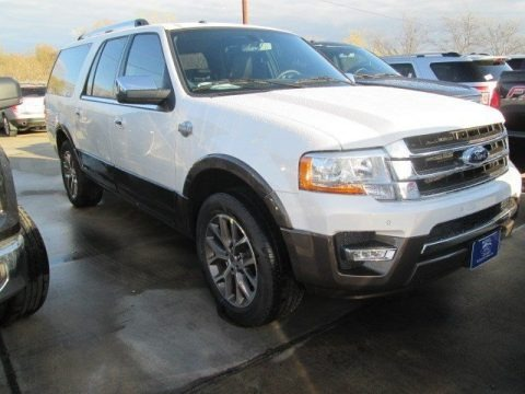 White Platinum Metallic Tri-Coat 2015 Ford Expedition EL King Ranch