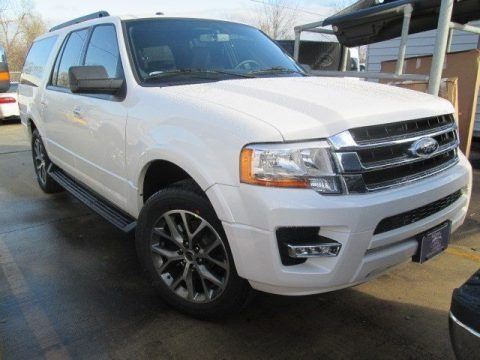 White Platinum Metallic Tri-Coat 2015 Ford Expedition EL XLT