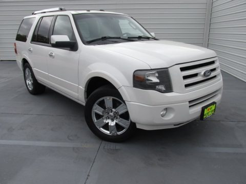 White Platinum Tri-Coat Metallic 2010 Ford Expedition Limited